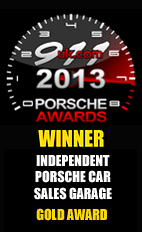 2013 Porsche Independent Car Sales Garage - Gold Award