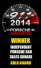 2014 Porsche Independent Car Sales Garage - Gold Award