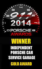 2014 Porsche Independent Car Service Garage - Gold Award